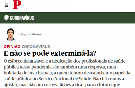 Artigo de Hugo Esteves no Público